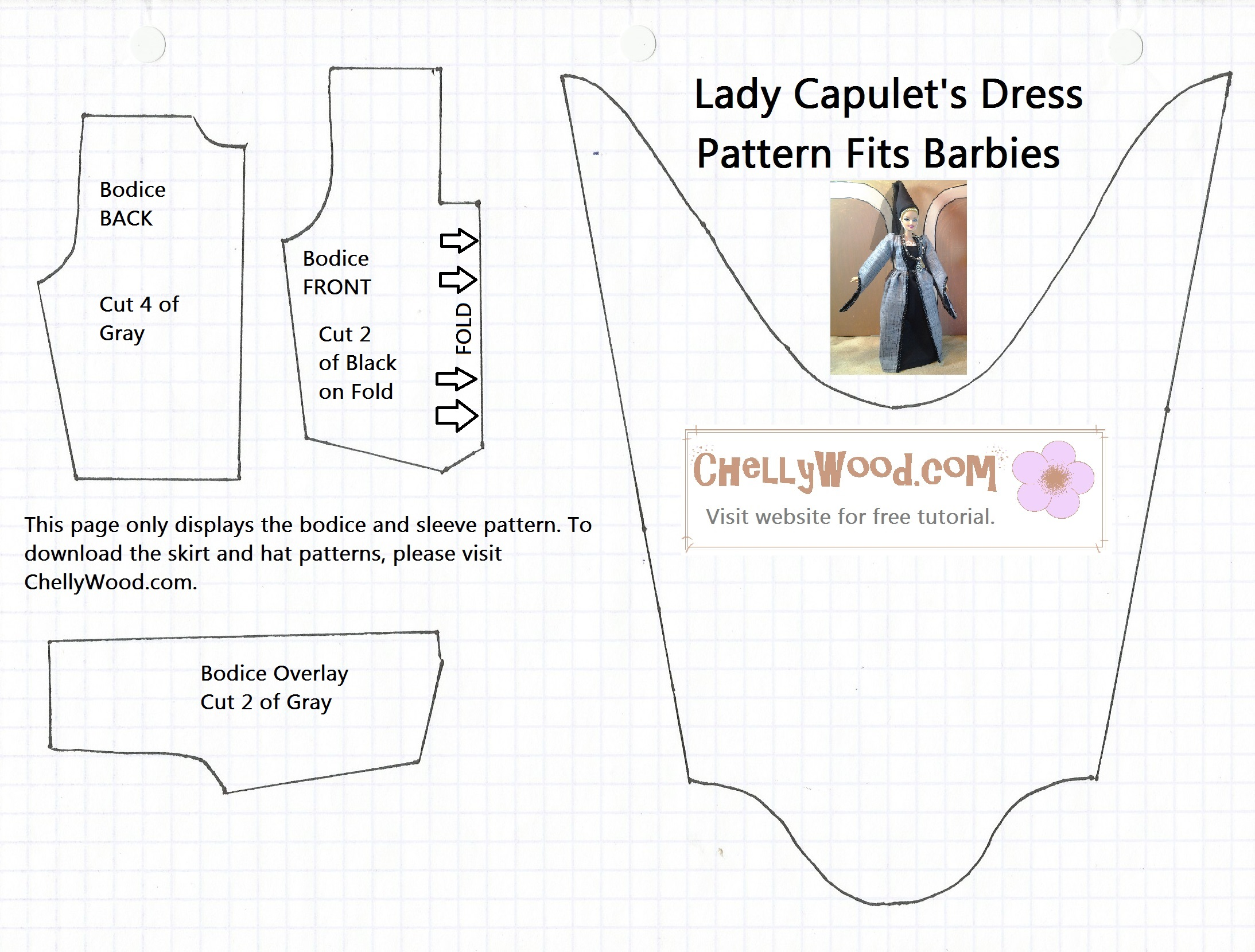 image regarding Printable Barbie Clothes Patterns known as Free of charge Printable Barbie Doll Garments Behaviors Totally free Doll