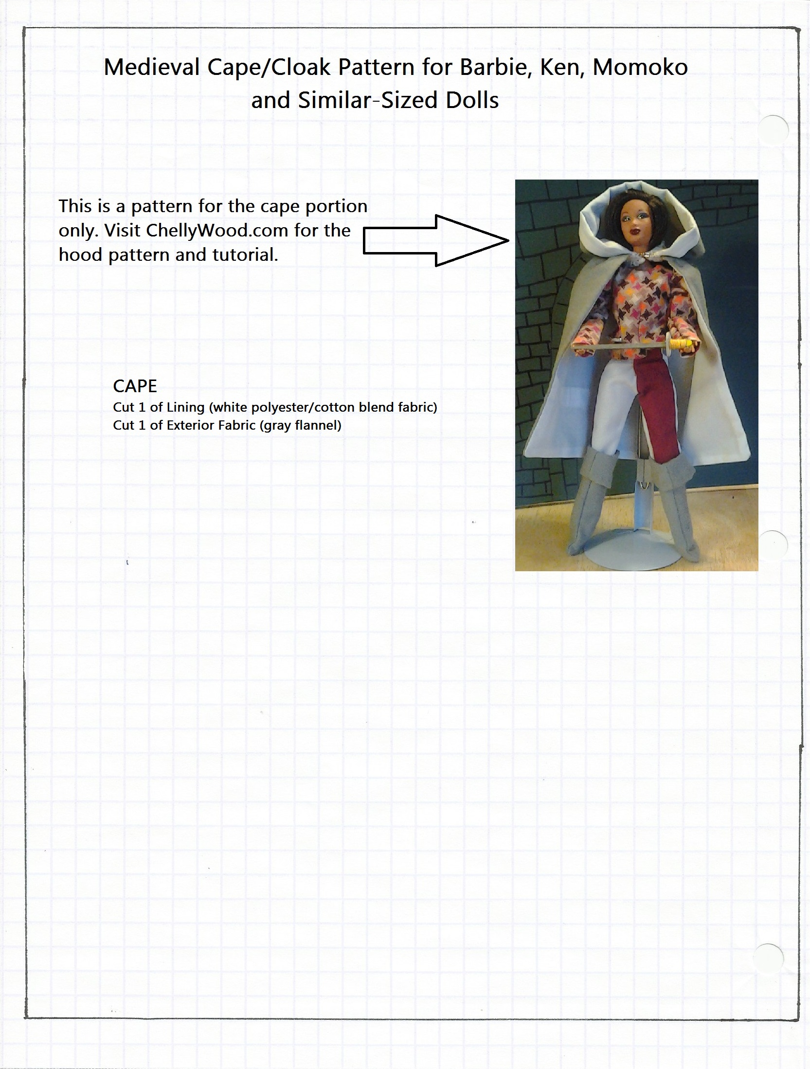 FREE Printable Barbie Doll Clothes Patterns | Chelly Wood