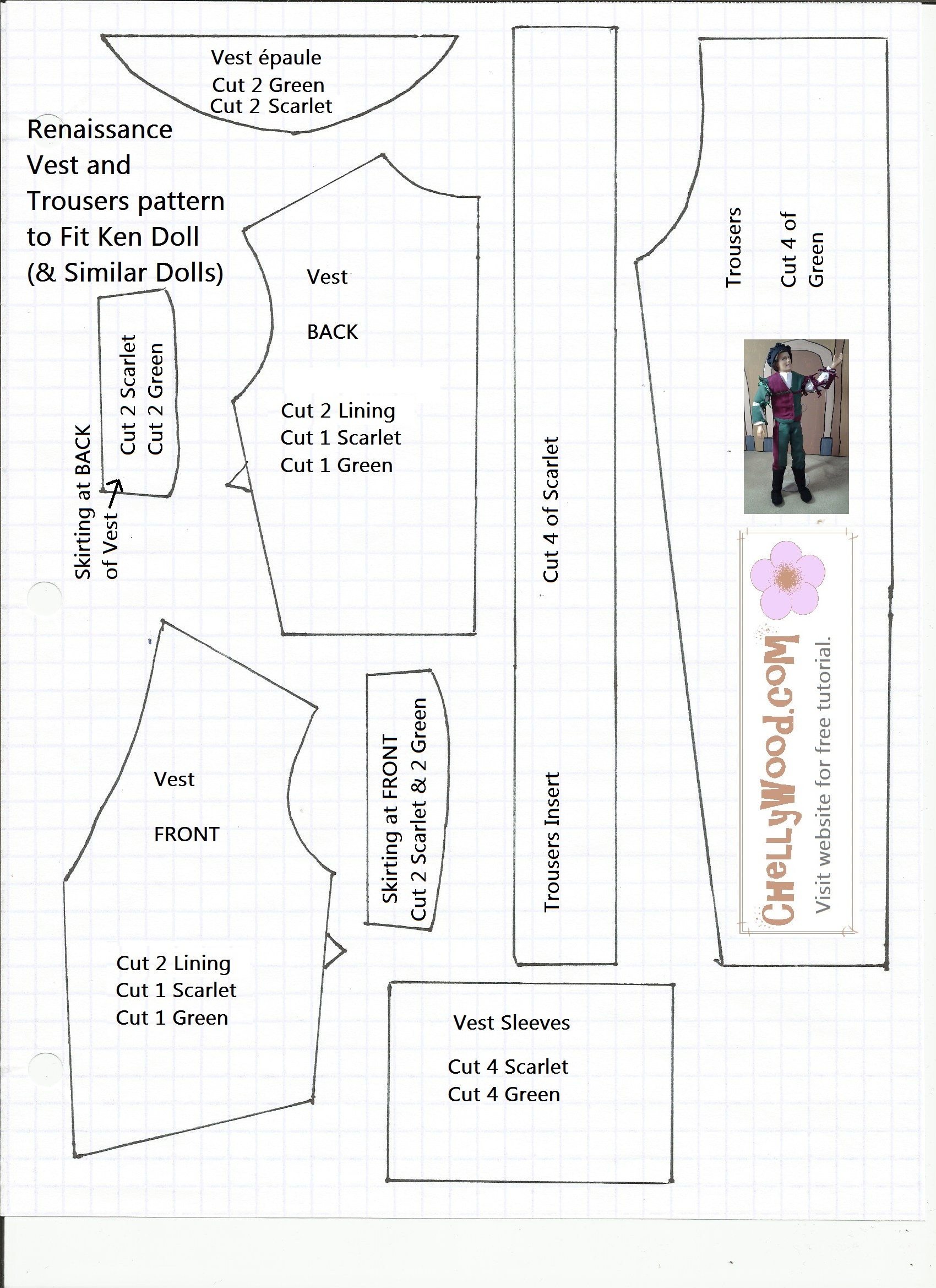 FREE Printable #BarbieClothes #Sewing #Patterns and Upcoming Contest ...