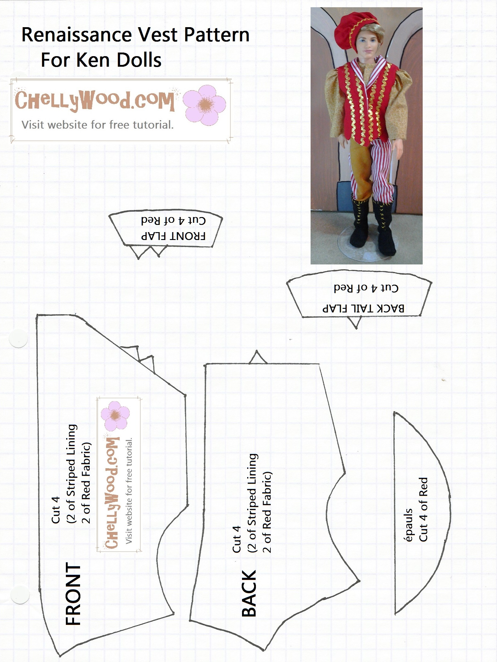 sewing ken pants image of image of vest for ken dolls