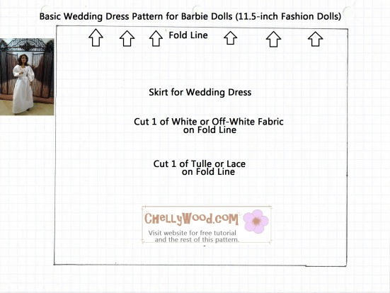 Barbie Doll Collectibles Wedding Dress Free Printable Wedding Dress pattern for barbies