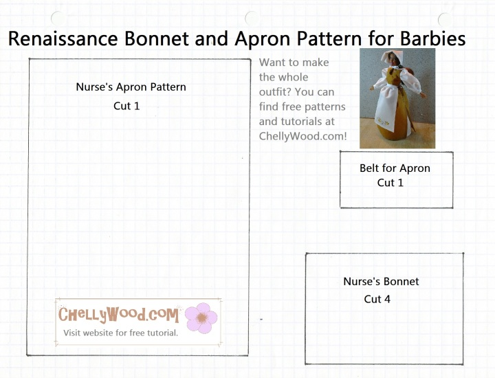 Barbie Apron Free Pattern and Tutorial