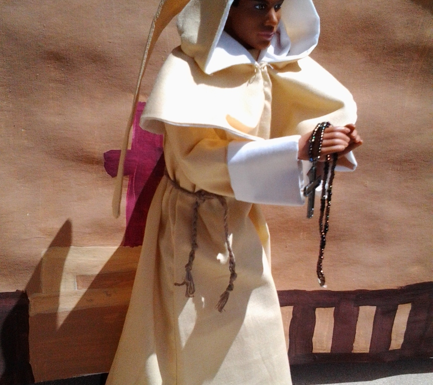 Tutorial on How to Make a Monk's costume, angel costume, Jesus costume, priest's robes for Halloween or for dolls