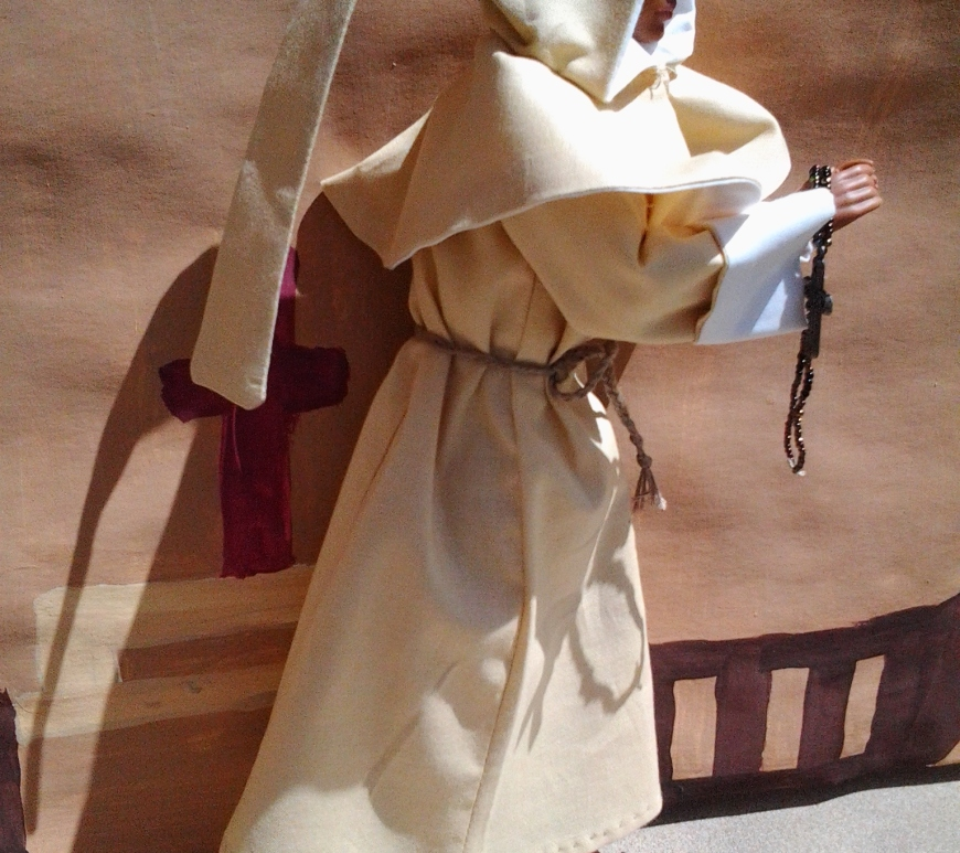 monk, priest, angel, or jesus costume for Barbie and Ken dolls pattern free to download tutorial Youtube