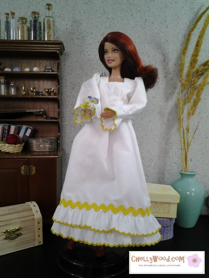 Image of Barbie doll in a Quinceañera Dress