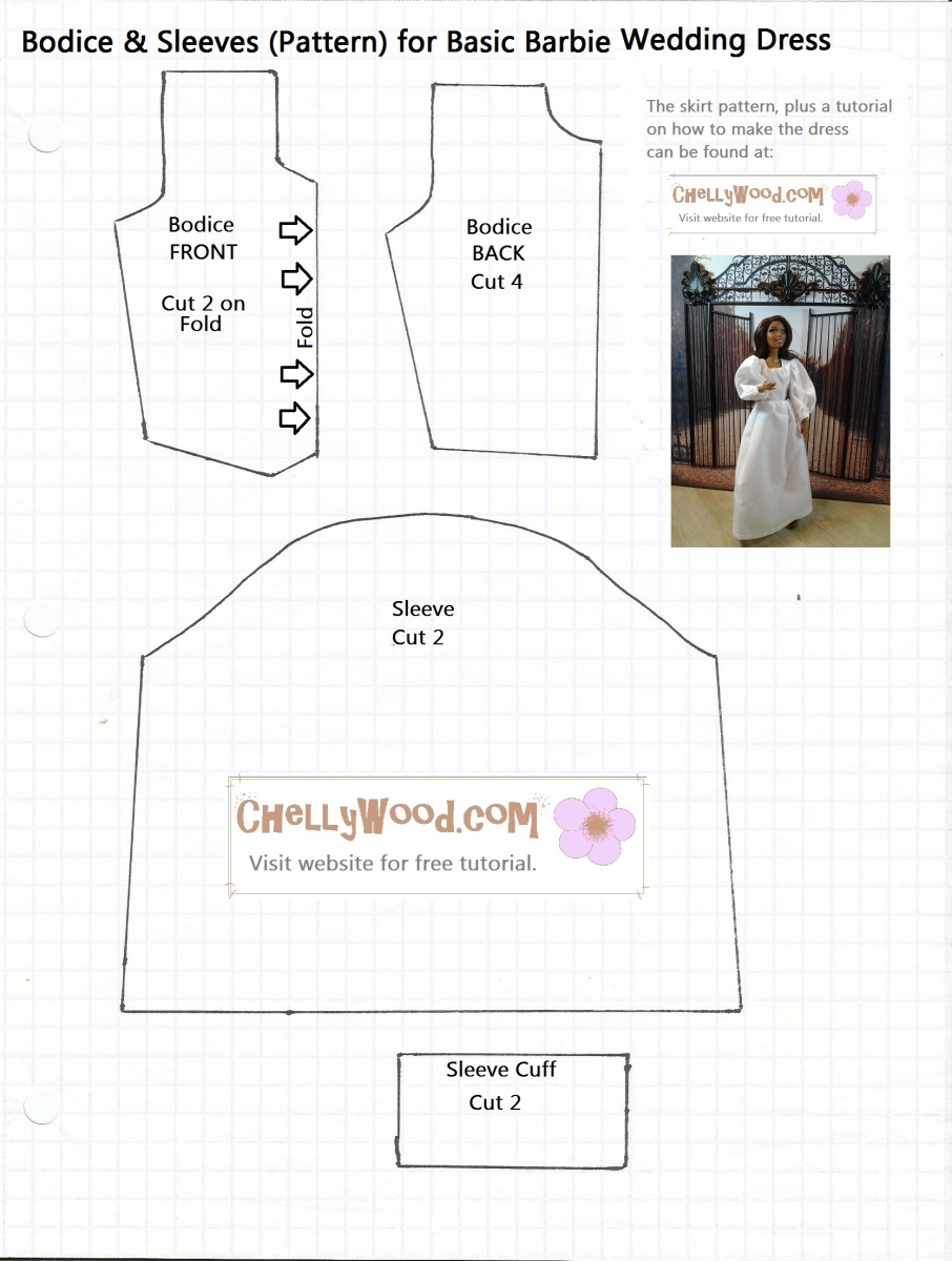 Free fiestadequincea os dress pattern to sew chelly wood for Wedding dress patterns free download