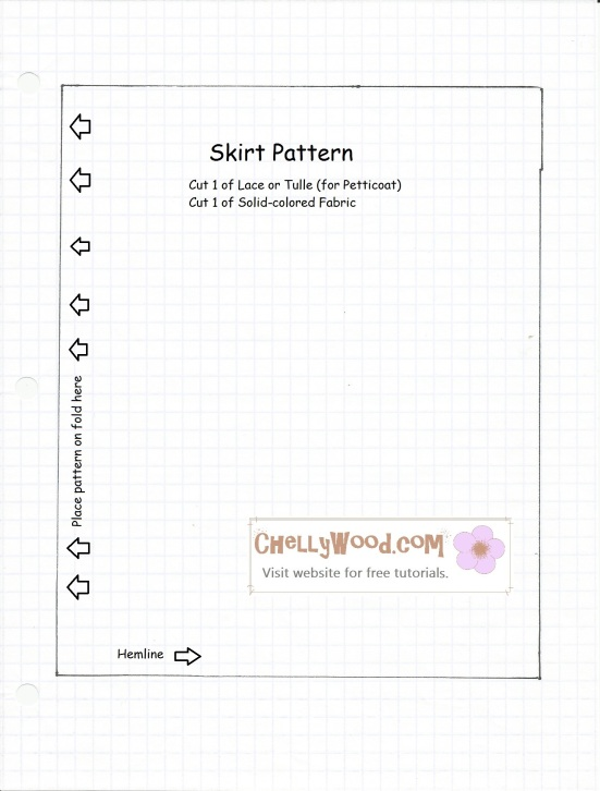 Pattern to Sew Barbie Doll Skirt