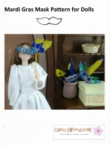 Make a #HalloweenMask for #Barbie or #MomokoDoll