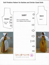 #Printable #Sewing Pattern for Barbie Pinafore
