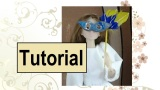 Video Tutorial for Making a #Harlequin Mask for Barbie or Momoko Dolls for #Halloween