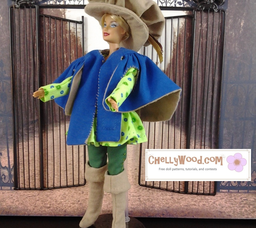 Image of Barbie Dressed in Home-Made Musketeer Costume