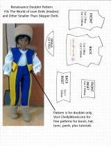 #Sewing Vest or Renaissance Doublet #Pattern for #MiniatureDolls