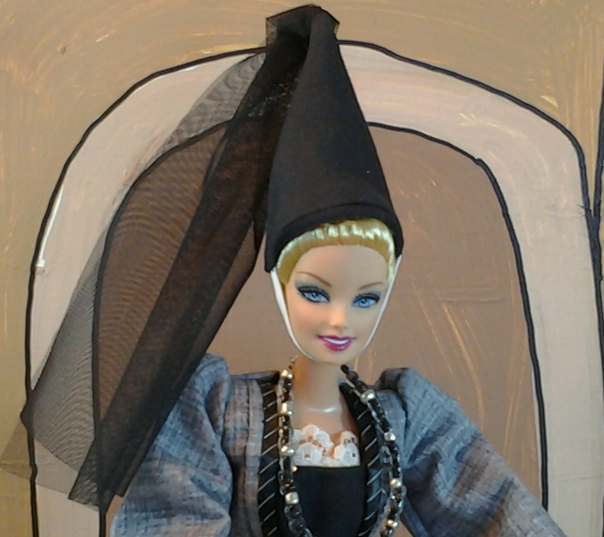 Image of Barbie Doll in Cone-shaped Hat
