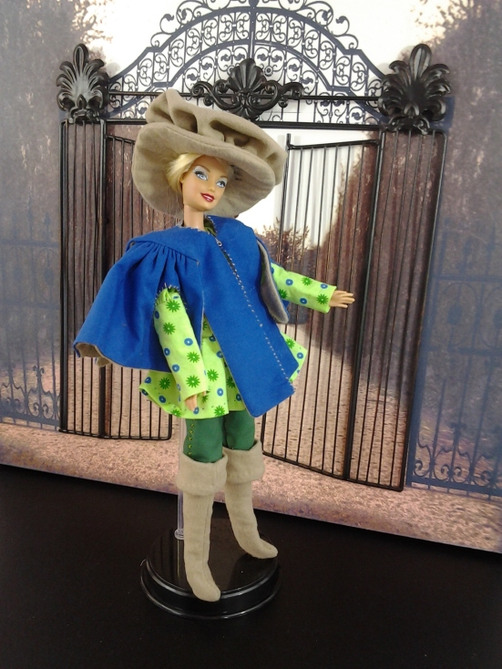 Image of Barbie in a 3 Musketeers Costume