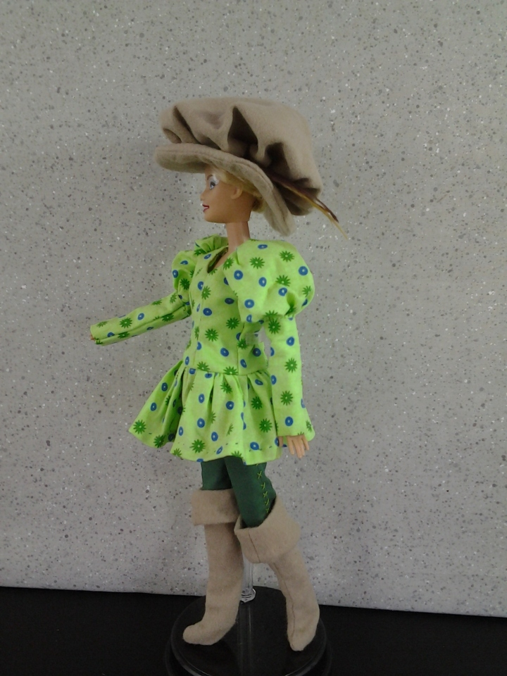 Image of Barbie doll in a Musketeers Tunic