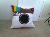 Make a #felt #Instagram pillow w/ a FREE #pattern @ ChellyWood.com