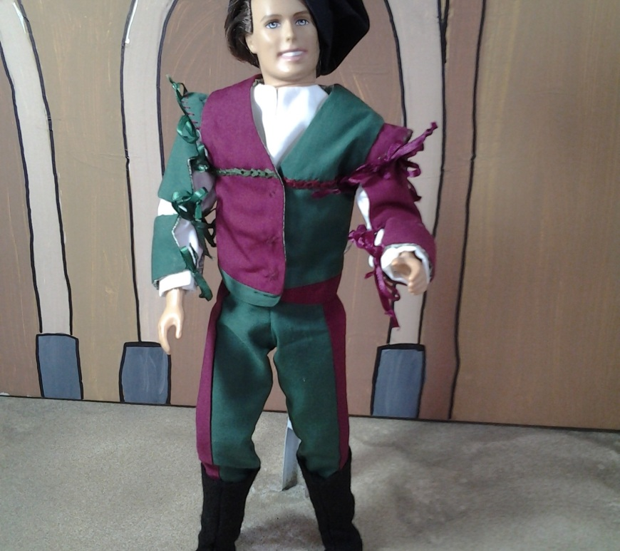 Image showing Ken doll in Renaissance clothing