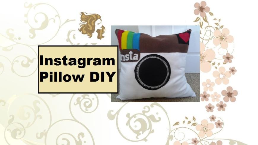 "Video tutorial header states ""Instagram Pillow DIY"""