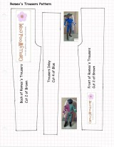 Sew Romeo Pants for #BarbieDolls, #BJDs or Other Fashion #Toys