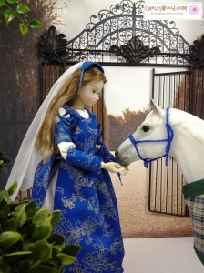 """Image of Momoko Doll with Breyer Horse """"Snowman"""""""