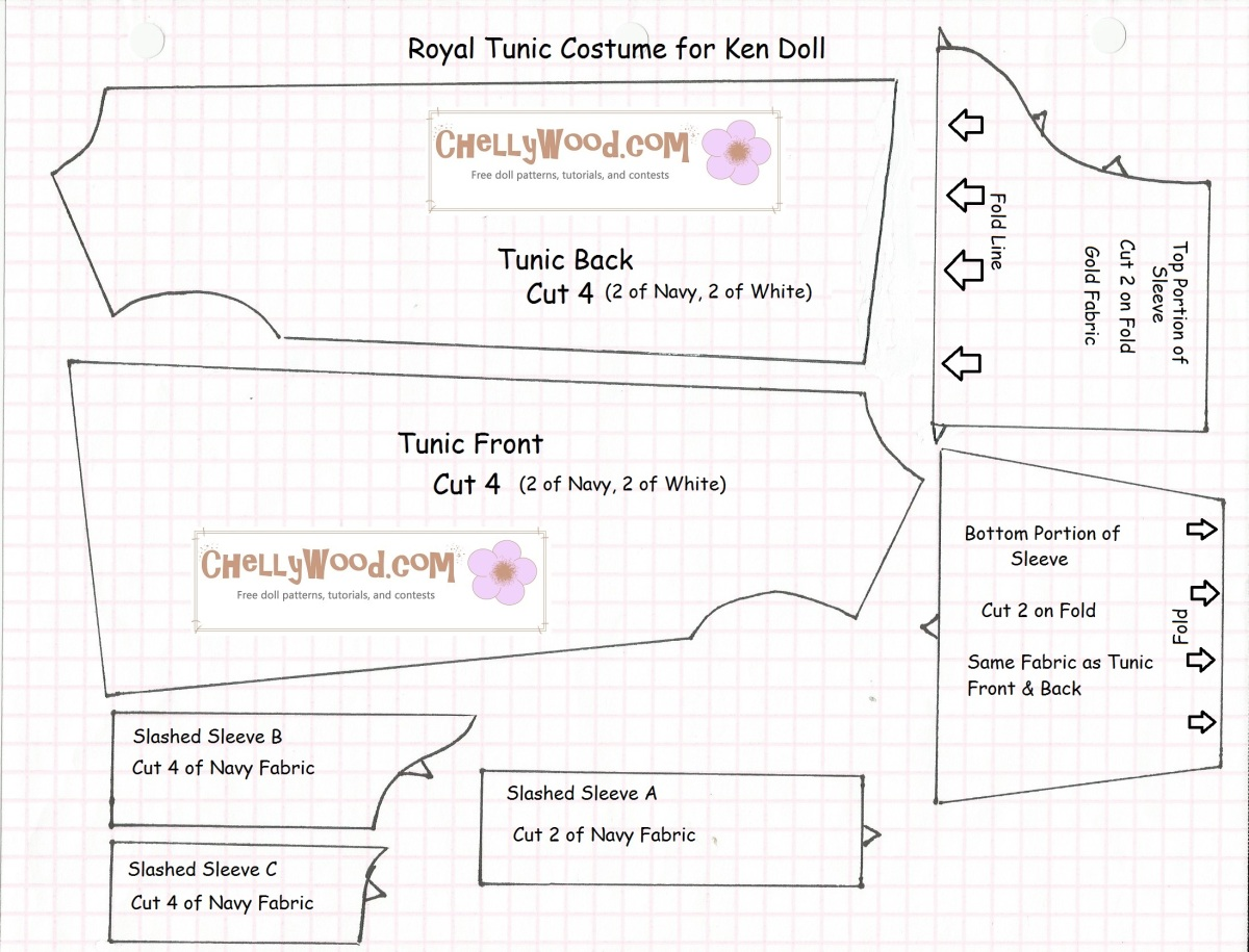Sew A Prince Costume For Ken Dolls Free Doll Clothes
