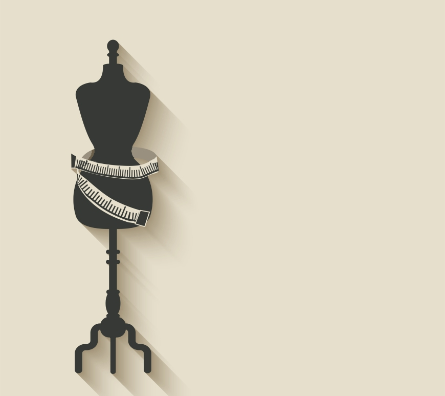 Image of sewing mannequin with tape measure around it
