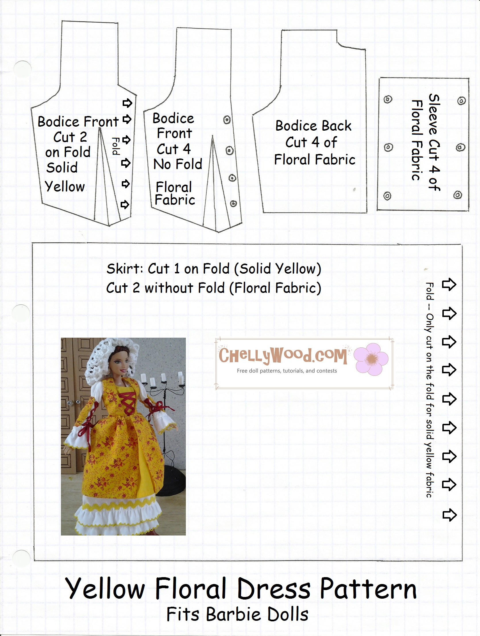 FREE Printable Barbie Doll Clothes Patterns |