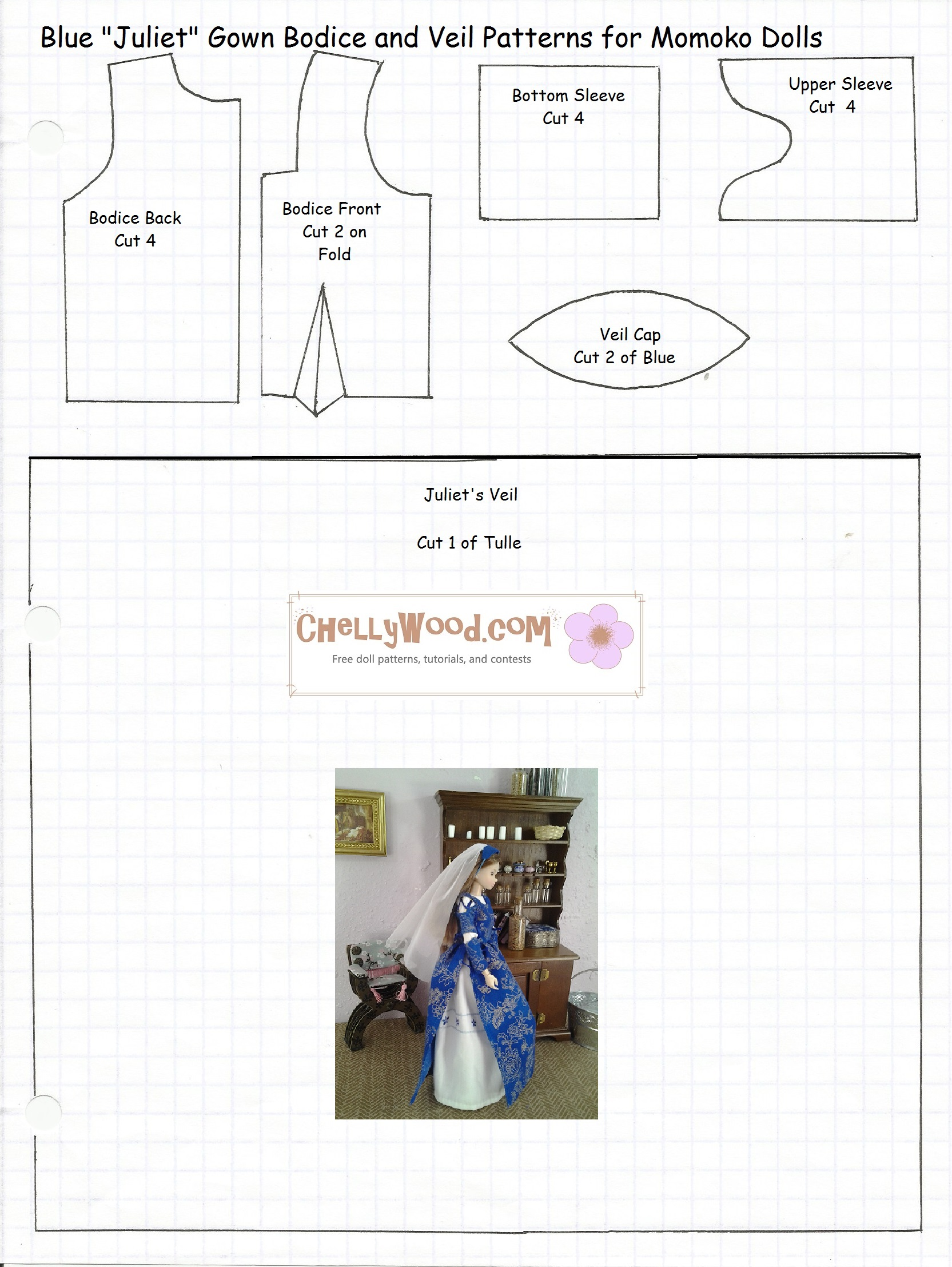 How To Design My Own Clothes For Free Momoko doll clothes pattern
