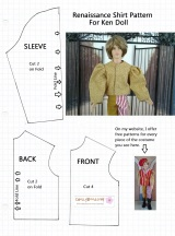 #Free #Dolling Doll Clothes #Sewing Pattern for Making Ken or Barbie a Puff-SleeveShirt