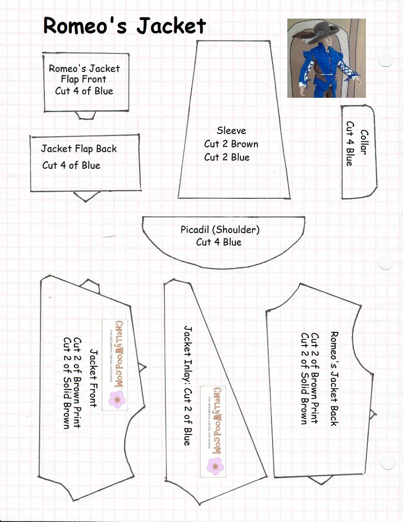 Free, Printable Sewing Pattern for #Romeo Jacket #