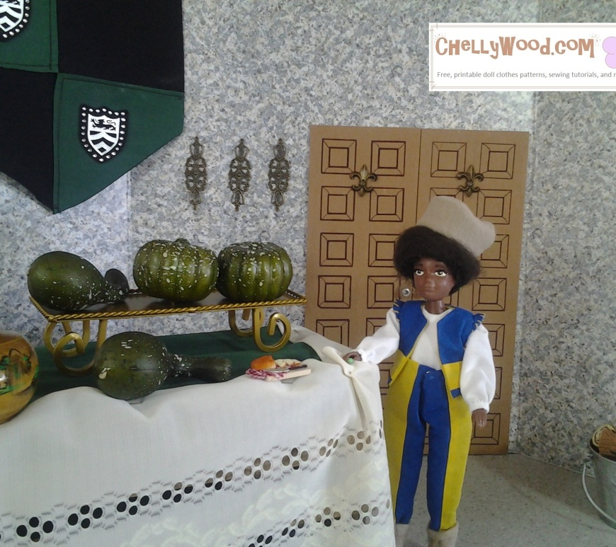 Image of African American doll playing Benvolio in Romeo and Juliet stop motion film