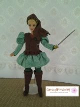 Sew a #Medieval Tunic for #BarbieDolls and other #FashionDolls (free pattern &tutorial)