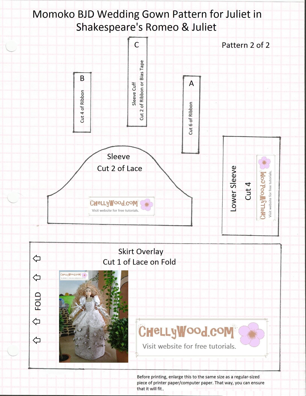 Momokodoll wedding dress free pattern and tutorial also fits free pattern for momokos wedding dress bodice jeuxipadfo Gallery