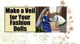 #Wedding Veil Tutorial for #Dolls With Free #Sewing Pattern @ ChellyWood.com