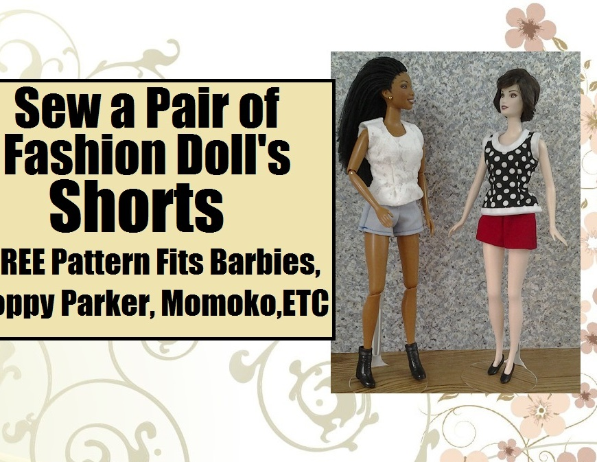 """Image of Brandi doll and ashley greene's """"Alice"""" doll from Twilight wearing summer shorts and sleeveless tops"""