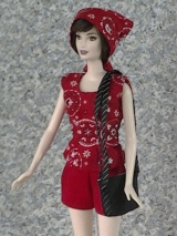 Sew a #Purse and #Headscarf for Barbies and Other #Fashion Dolls @ ChellyWood.com