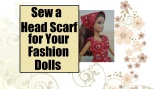 #DIY #dolls' scarf for #IndependenceDay @ChellyWood.com