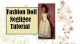 How to Sew a Lace Negligee for #Barbies, #MomokoDolls, #Blythe, or #Pullip