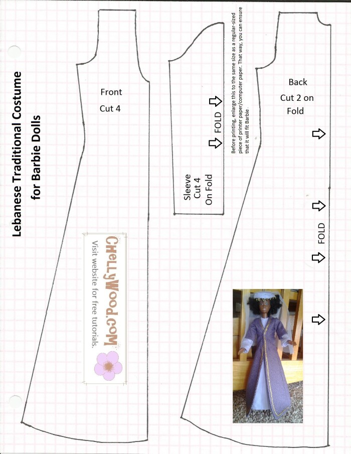 Free #Sewing Pattern for #Bible Characters\' Doll Clothes to Use in ...