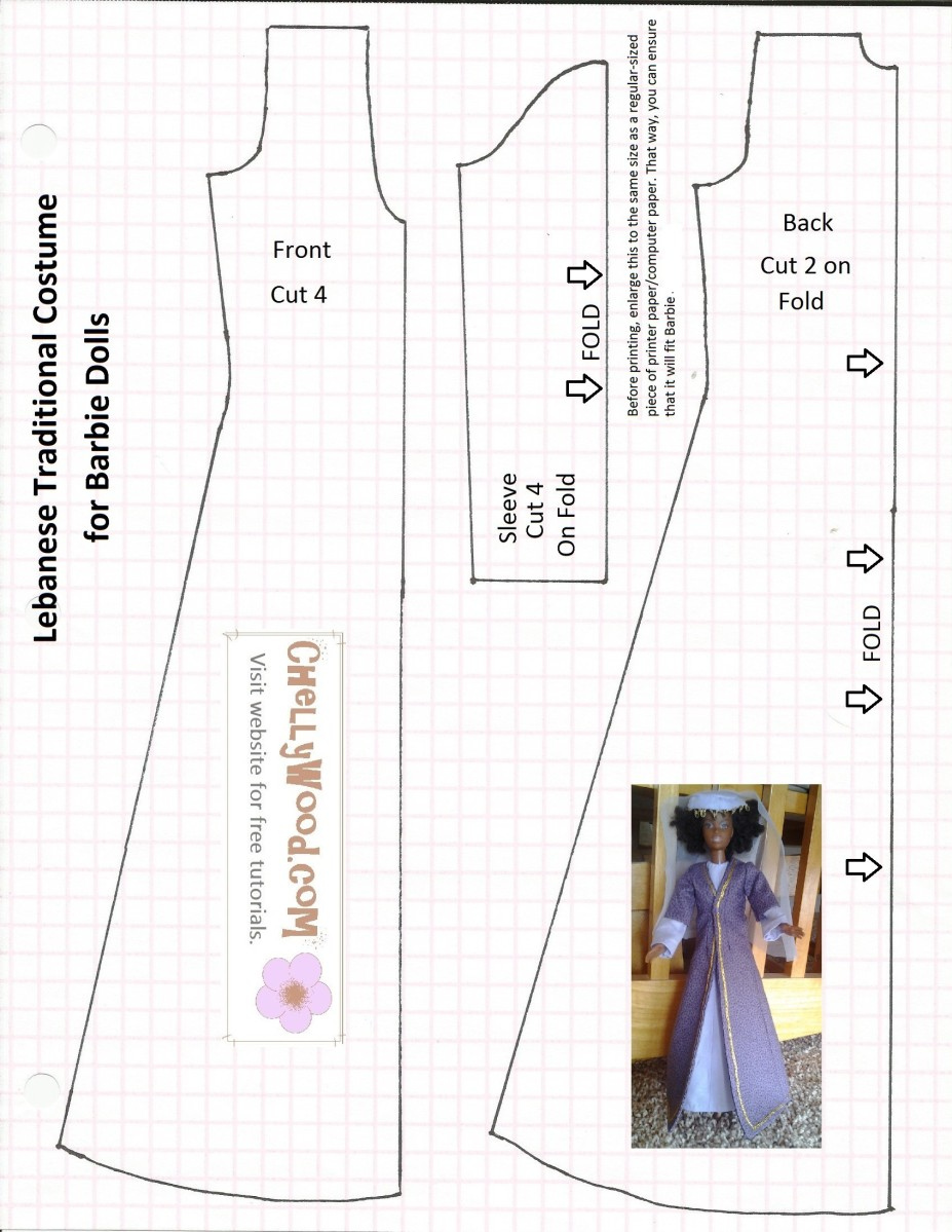 This is a graphic of Fabulous Free Printable Barbie Clothes Sewing Patterns