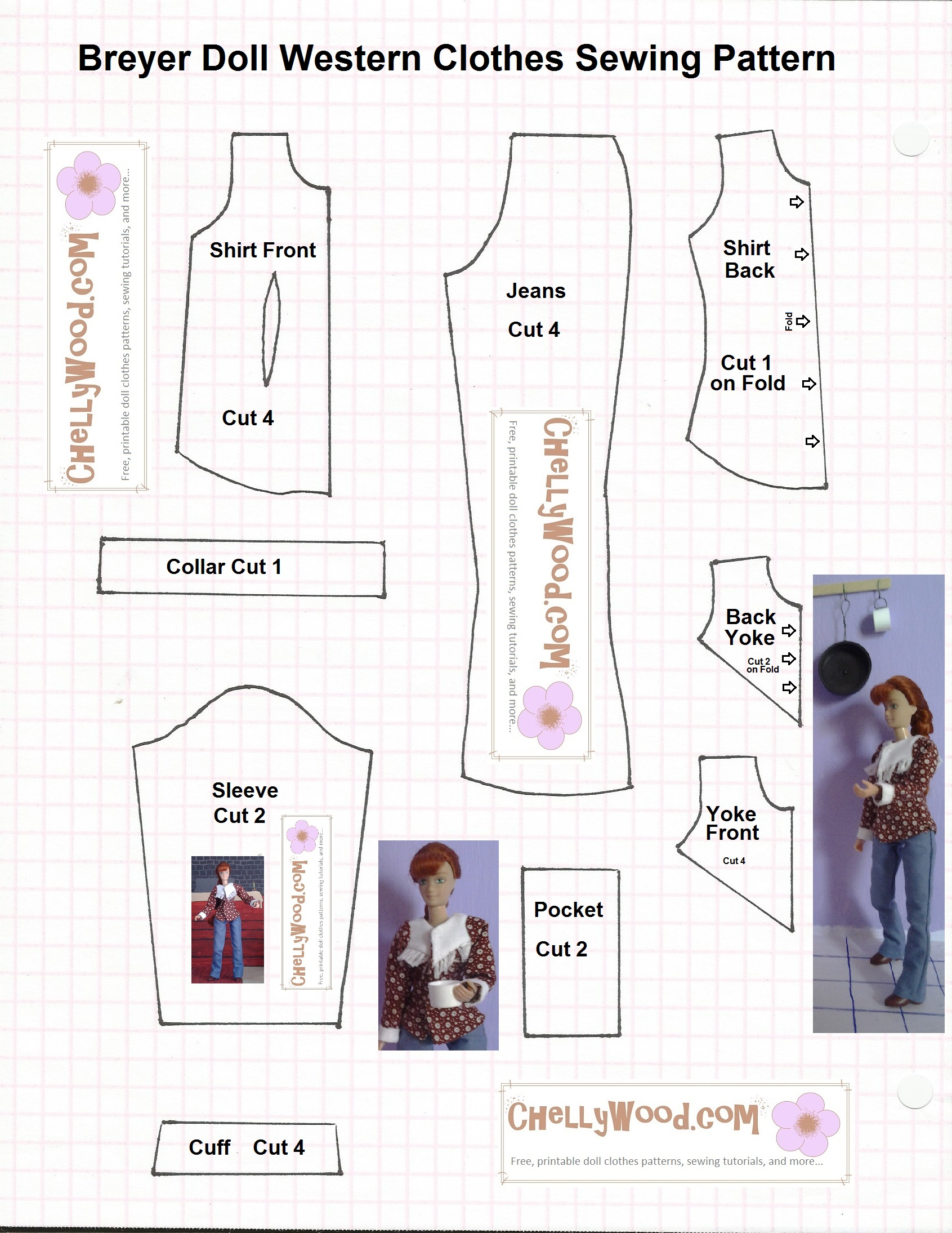 graphic relating to Free Printable Doll Clothes Patterns named Breyer Doll Garments #Sewing Habit, Absolutely free and Printable for
