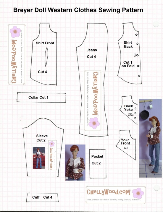 #Breyer Doll Clothes #Sewing Pattern, Free and Printable
