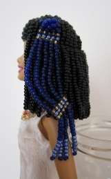 Egyptian Princess With Beautiful Beaded Wig Created by Stephanie of Normandie
