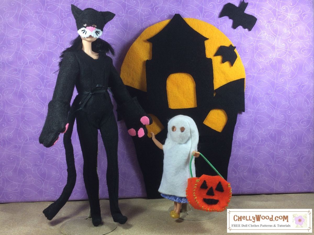 free printable sewing patterns for #halloween #dolls' #costumes