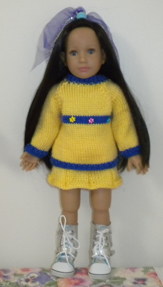 Free Knitting Patterns For Doll Clothes 18 Ins : Free #Knitting Patterns for #AmericanGirl Dolls and Other 18-inch #Dolls! C...