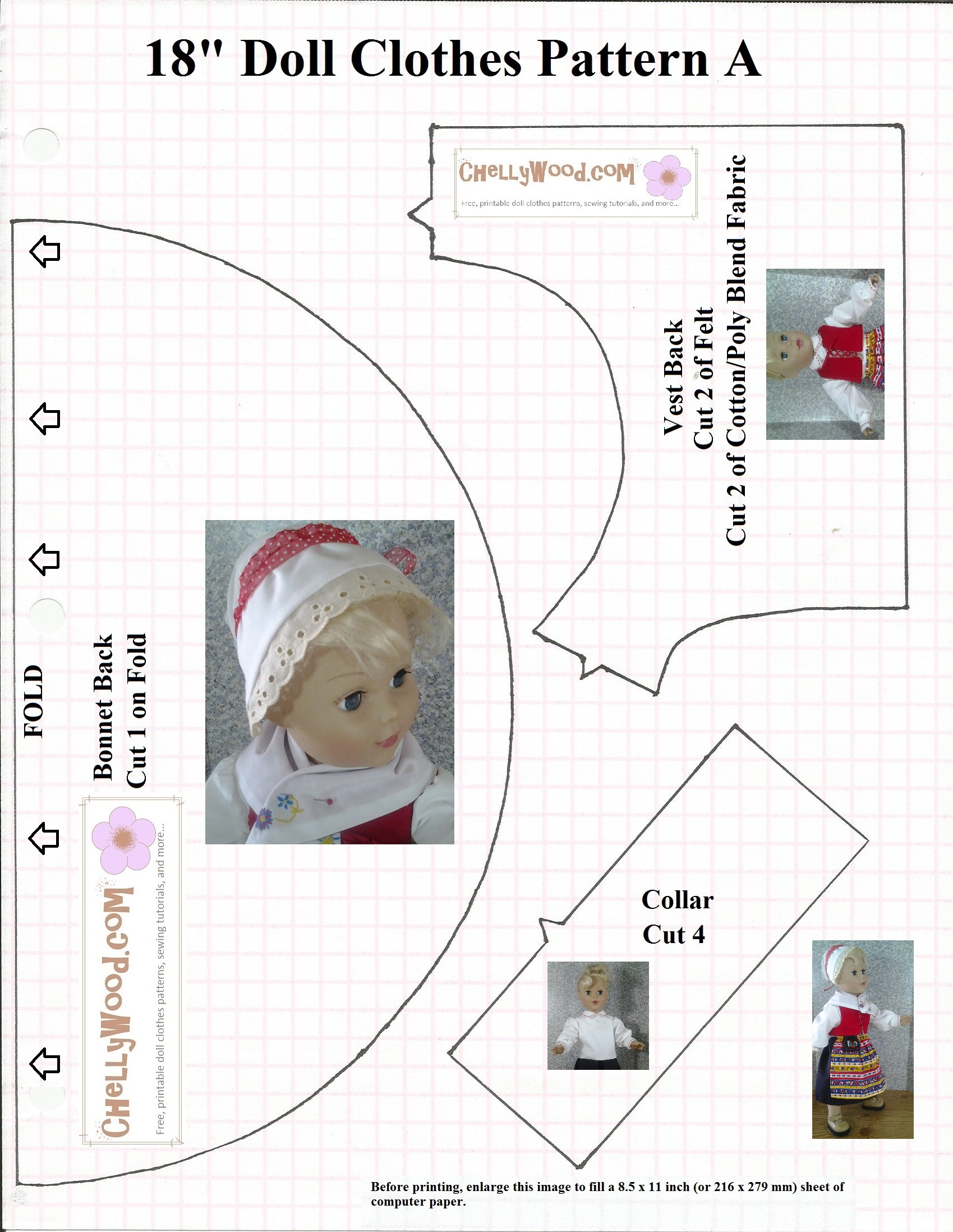 photo about Pilgrim Bonnet Template Printable called No cost #Bonnet Practice healthy #18inchDolls Together with American Woman and