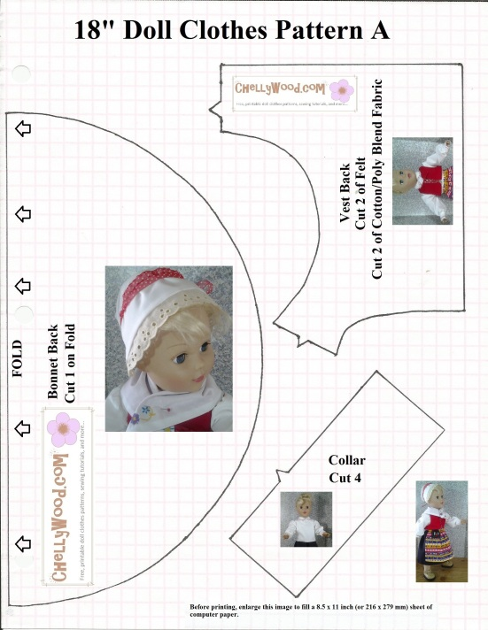 Sew a vest for #18inchDolls with this #FREE printable #sewing ...