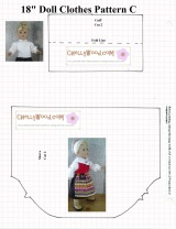 C is for #Crafty #DollClothes Shirt Pattern and It's FREE @ ChellyWood.com