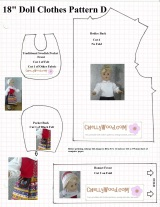 Another #FREE 18 Inch Doll Pattern from ChellyWood.com for #Handmade #Etsy-type Folks