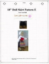 Free Skirt Pattern for #AGdolls and #JourneyGirls @ ChellyWood.com #18inchDolls